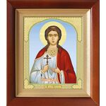Мученица Любовь Римская, икона в деревянном киоте 14,5*16,5 см - Иконы