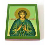 Преподобный Аркадий Новоторжский, Вяземский, икона на доске 13*16,5 см - Иконы