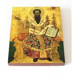 Святитель Василий Великий, икона на доске 13*16,5 см - Иконы