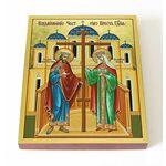 Воздвижение Честного Креста Господня, икона на доске 13*16,5 см - Иконы