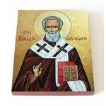 Святитель Геннадий Константинопольский, икона на доске 13*16,5 см - Иконы
