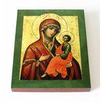 Грузинская икона Божией Матери, печать на доске 13*16,5 см - Иконы