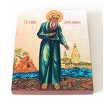 Преподобный Даниил Ачинский, икона на доске 13*16,5 см - Иконы