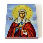 Святая Ева праматерь, жена Адама, икона на доске 13*16,5 см - Иконы