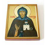 Преподобная Евфросиния Московская, Евдокия, икона на доске 13*16,5 см - Иконы