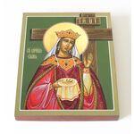 Равноапостольная царица Елена, икона на доске 13*16,5 см - Иконы