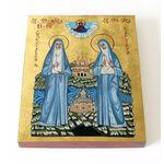 Преподобномученица Елисавета и инокиня Варвара, доска 13*16,5 см - Иконы