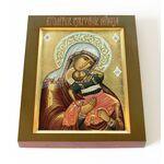 """Икона Божией Матери """"Взыграние Младенца"""", печать на доске 13*16,5 см - Иконы"""
