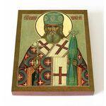 Святитель Иннокентий, митрополит Московский, икона на доске 13*16,5 см - Иконы