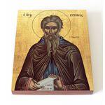 Преподобный Кириак Палестинский, отшельник, икона на доске 13*16,5 см - Иконы