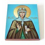 Блаженная Клеопатра Палестинская, икона на доске 13*16,5 см - Иконы