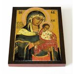 Коневская икона Божией Матери, Голубицкая, печать на доске 13*16,5 см - Иконы