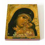 Корсунская икона Божией Матери, XVII в, печать на доске 13*16,5 см - Иконы