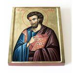 Апостол от 70-ти Лука Евангелист, иконописец, икона на доске 13*16,5 см - Иконы