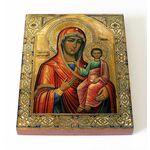 Макарьевская икона Божией Матери, печать на доске 13*16,5 см - Иконы