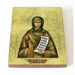 Преподобная Мелания Римляныня, печать на доске 13*16,5 см - Иконы