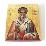 Святитель Мирон Критский, икона на доске 13*16,5 см - Иконы