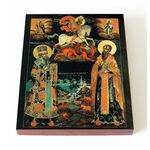 Святители Модест Иерусалимский и Власий Севастийский, доска 13*16,5 см - Иконы