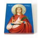 Мученица Стефанида Дамасская, икона на доске 13*16,5 см - Иконы