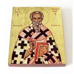 Святитель Никифор, патриарх Константинопольский, на доске 13*16,5 см - Иконы