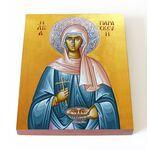 Преподобномученица Параскева Римская, икона на доске 13*16,5 см - Иконы