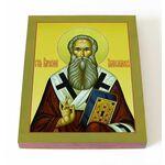 Преподобный Парфений Лампсакийский, епископ, икона на доске 13*16,5 см - Иконы