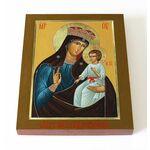 Писидийская икона Божией Матери, печать на доске 13*16,5 см - Иконы
