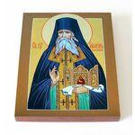 Преподобный Гавриил Афонский, икона на доске 13*16,5 см - Иконы