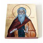 Преподобный Иларион Псковоезерский, Гдовский, печать на доске 13*16,5 - Иконы