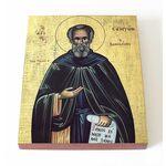 Преподобный Сампсон Странноприимец, икона на доске 13*16,5 см - Иконы