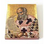 Святитель Афанасий Великий, икона на доске 13*16,5 см - Иконы