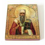 Святитель Евфимий Новгородский, икона на доске 13*16,5 см - Иконы