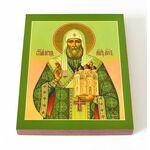 Святитель Пётр, Митрополит Московский, икона на доске 13*16,5 см - Иконы