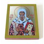 Святитель Феоктист Новгородский, икона на доске 13*16,5 см - Иконы