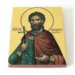 Мученик Феодор Африканский, икона на доске 13*16,5 см - Иконы