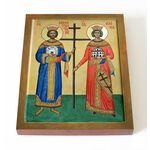 Воздвижение Креста Господня, икона на доске 13*16,5 см - Иконы