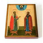 Благоверные князья Василий и Константин Ярославские, доска 13*16,5 см - Иконы