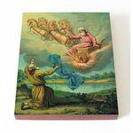 Святые пророки Елисей и Илия, икона на доске 13*16,5 см - Иконы