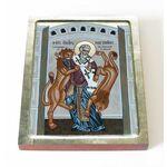 Священномученик Игнатий Богоносец со львами, доска 13*16,5 см - Иконы