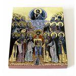 Собор Кольских святых, икона на доске 13*16,5 см - Иконы