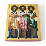 Собор трех святителей, икона на доске 13*16,5 см - Иконы