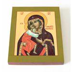 Феодоровская икона Божией Матери, печать на доске 13*16,5 см - Иконы