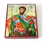 Великомученик Феодор Тирон, икона на доске 13*16,5 см - Иконы