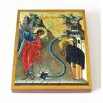 Чудо Архангела Михаила в Хонех, печать на доске 13*16,5 см - Иконы
