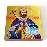 Благоверный князь Владислав Сербский, икона на доске 14,5*16,5 см - Иконы