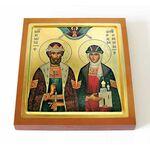Димитрий Донской и Евфросиния Московская, икона на доске 14,5*16,5 см - Иконы