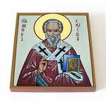 Святитель Мирон Критский, икона на доске 14,5*16,5 см - Иконы