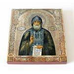 Преподобный Иосиф Волоцкий, Волоколамский, икона на доске 14,5*16,5 см - Иконы
