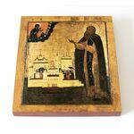 Преподобный Паисий Угличский, икона на доске 14,5*16,5 см - Иконы