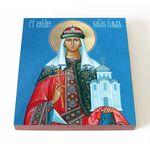 Равноапостольная княгиня Ольга, печать на доске 14,5*16,5 см - Иконы